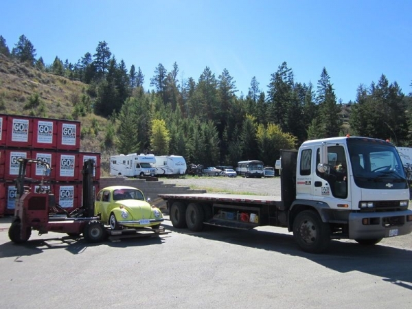 GO BOX Loading a Flatbed Truck