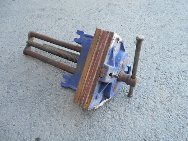 Wood Vise at Kamloops Garage Sale
